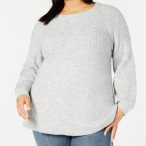 Style & Co Sweaters - Style & Co Bubble Sleeve Rib Knit Pullover Sweater